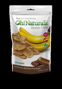 Chocolate Banana Chips (12 bags)